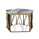 Factory Wholesale High Quality Living Room Furniture Luxury Modern Palissandro Blue Marble Top Coffee Table