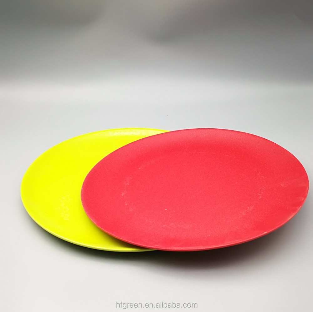 biodegradable plant fiber cheap bamboo powder dish/plate