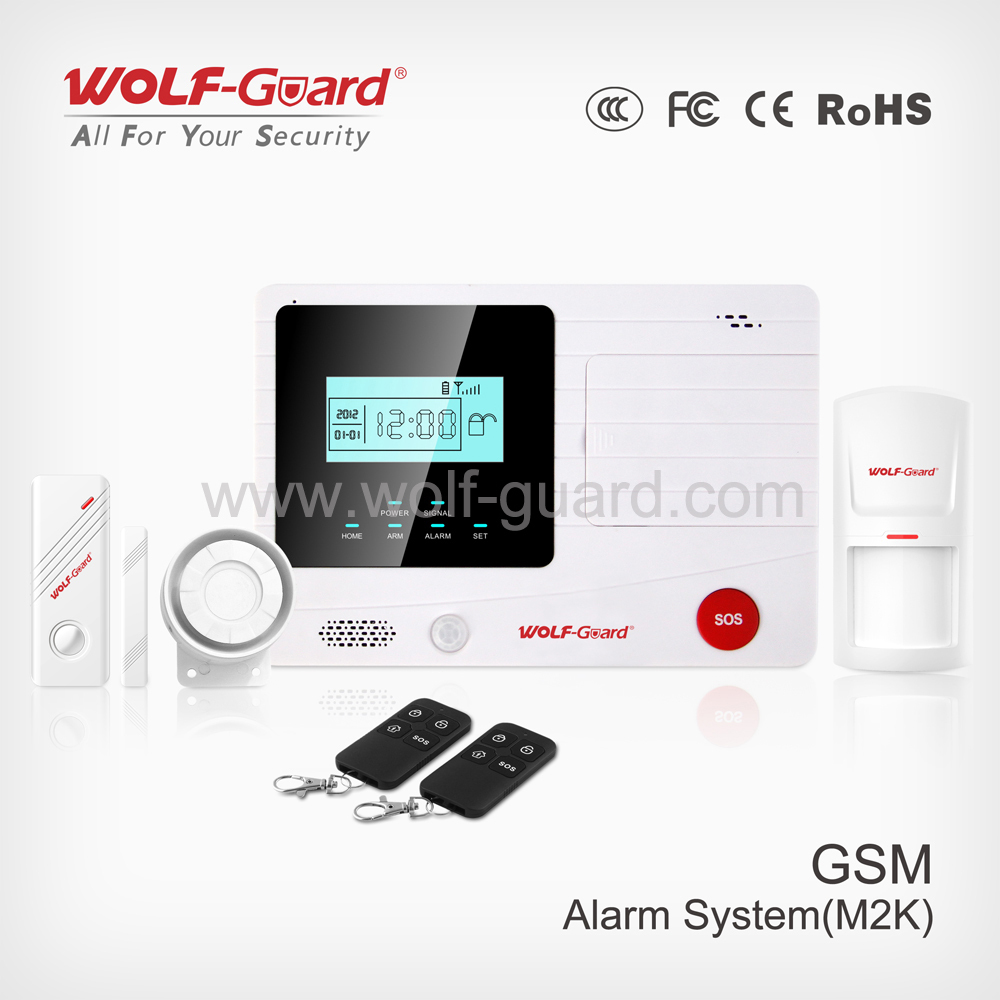 2015 latest gsm sms home security wireless intruder alarm (YL-007M2K)