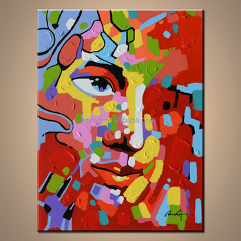 Pop abstract woman figure fine art gallery painting