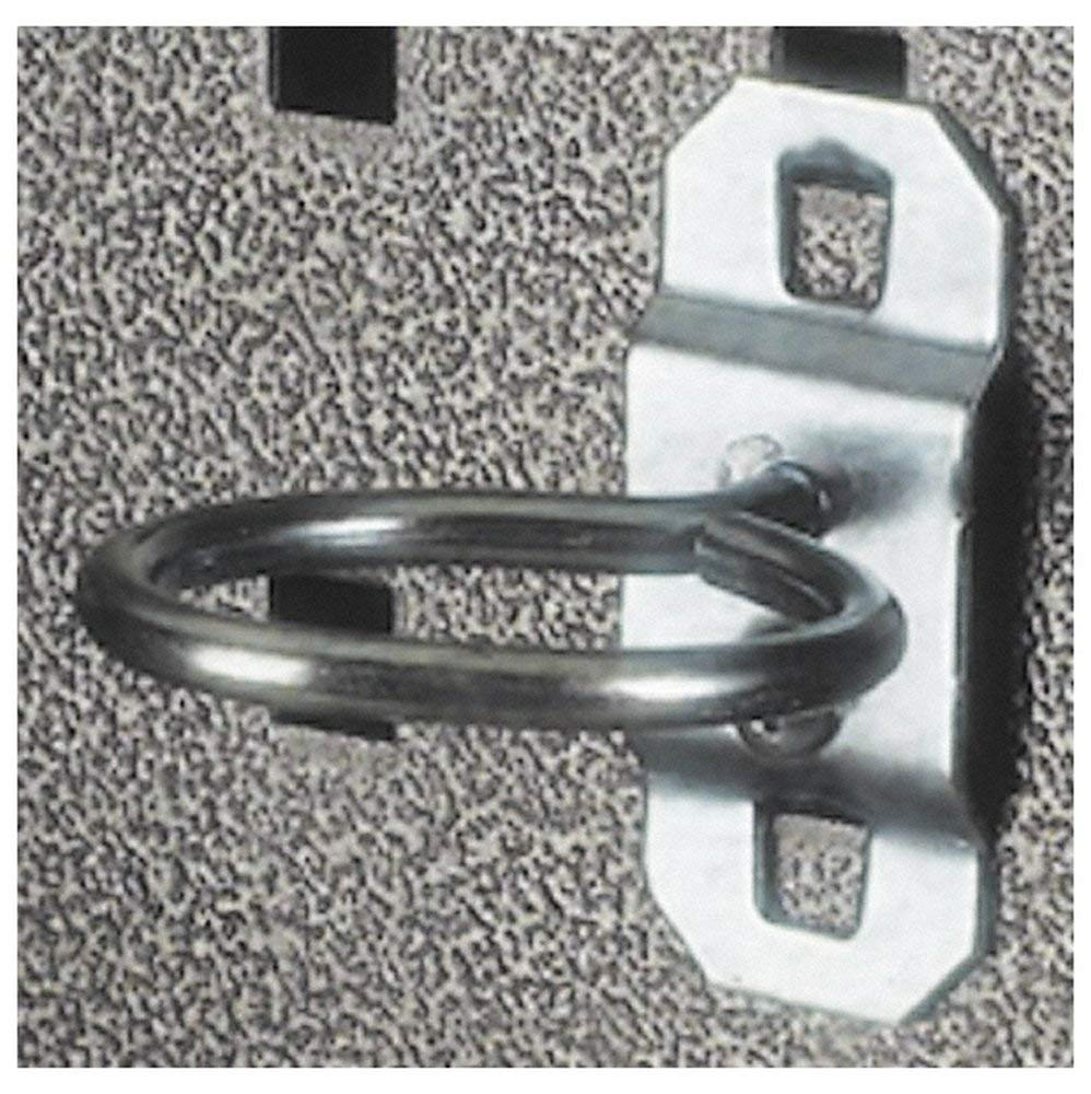 """1"""" ID, 3/16"""" Diam, 1-5/8"""" Long, Single Ring Tool Holder Pegboard Hook, 1-7/8"""" Projection, Steel (5 Pack)"""