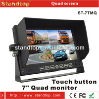 7 inch digital 800*480 quad split screen TFT LCD monitor