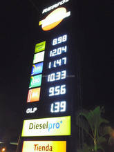 Gas station sign pricing signage LED oil display Petrol price signs