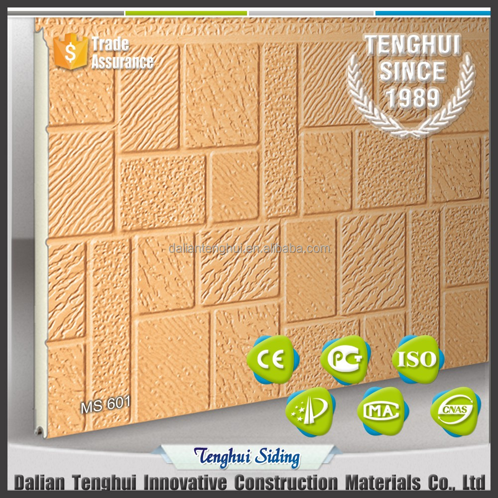 thermal insulation decorative exterior pu brick sandwich panel