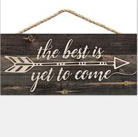 Arrow Rustic 5 x 10 Wood Plank Design Hanging Sign