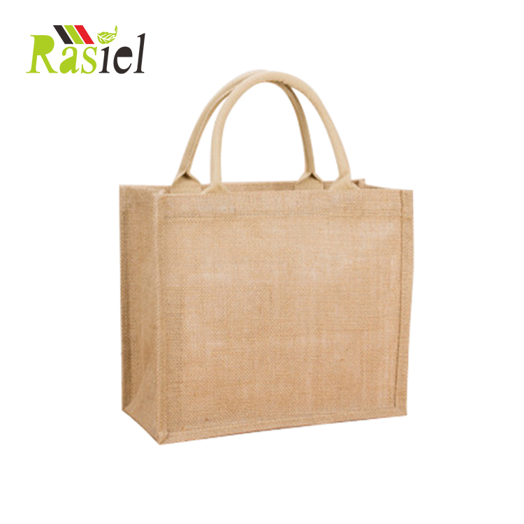 Wholesale Custom LOGO Printed Promotional Tote Bag Jute Handbag <strong>eco</strong> friendly