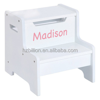 Fashion White Kids Wooden Step Stool