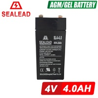 4v sealed lead acid 4ah vrla rechargeable battery for ups system