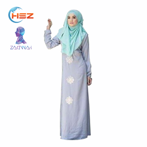 Zakiyyah HX072 Designer burqa long sleeve maxi kaftans wholesale india