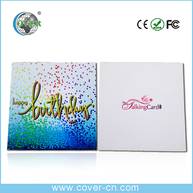 Wholesale custom birthday greeting card with music download