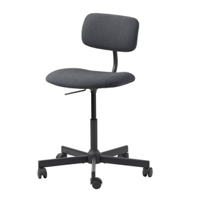 Boss Office Products Black Contoured Comfort Adjustable Rolling Drafting Stool Chair