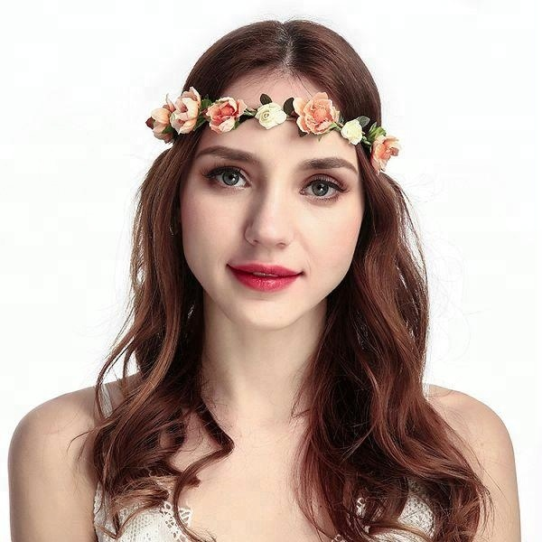 2018 hot sale Bohemia Handmade Women Flower Wreath Headband <strong>Hair</strong> <strong>Accessories</strong> for Wedding