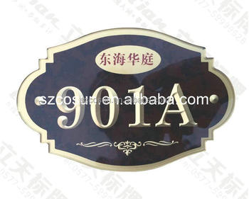 high quality stainless steel room numbers sign