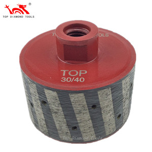 Resin-filled Metal Bond Zero Tolerance Diamond Drum Wheels For Granite Marble Stone Grinding