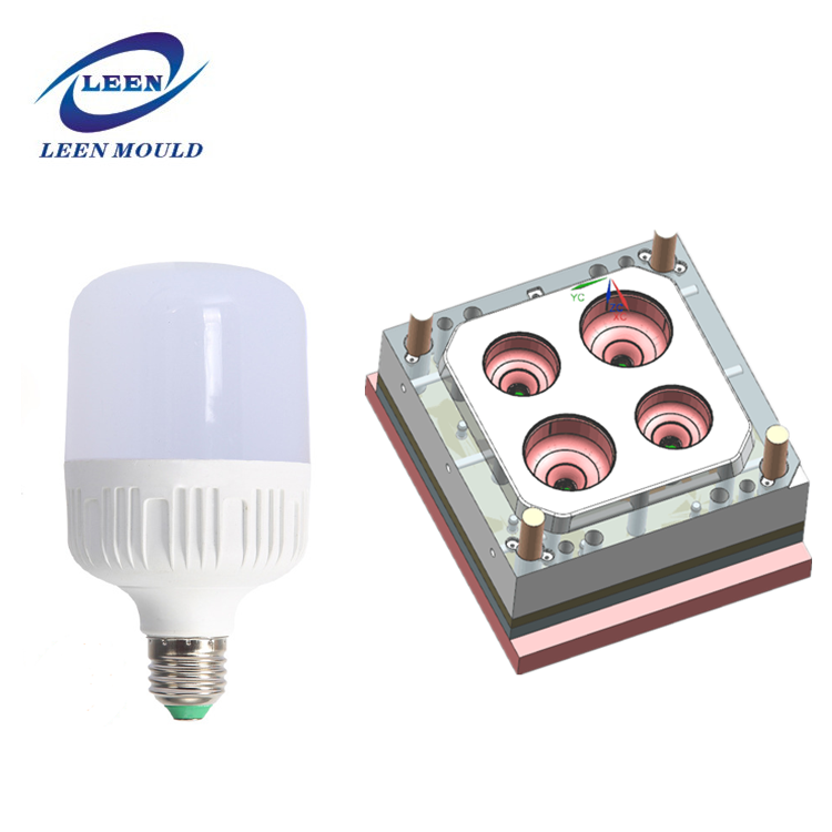 household office plastic LED lamp base injection mould bulb shell light cover mold with high quality best price
