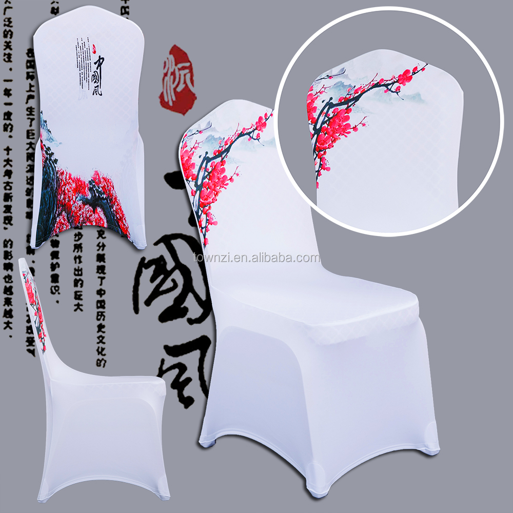 2017 Hot Sale New Arrival Hotel White Banquet Wedding Party Spandex Chair Cover
