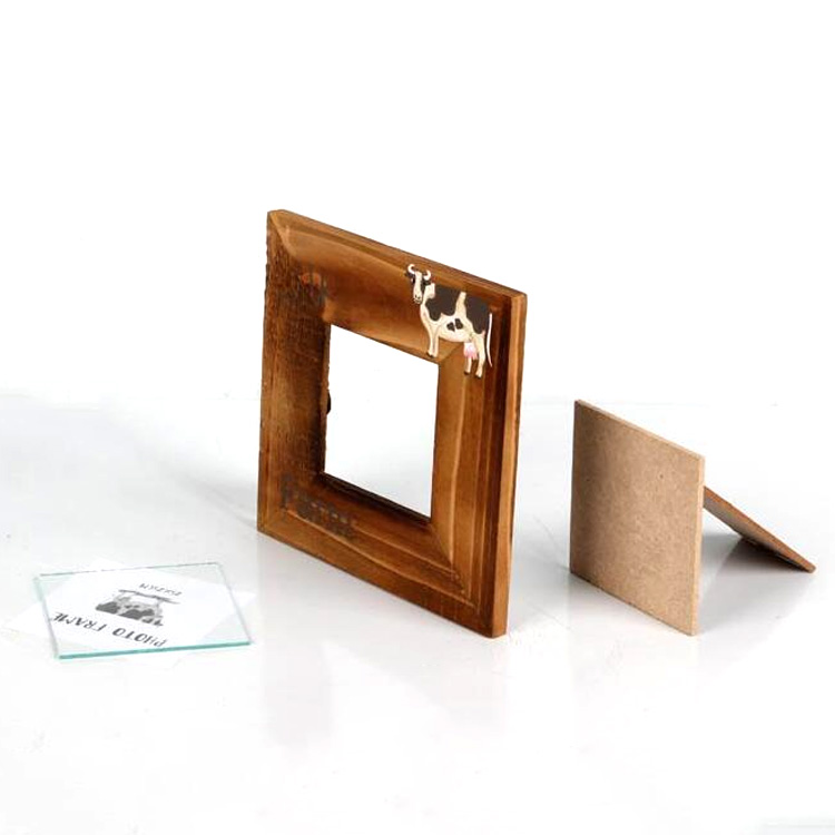 customized size burn color table stand family decoration wood photo frame