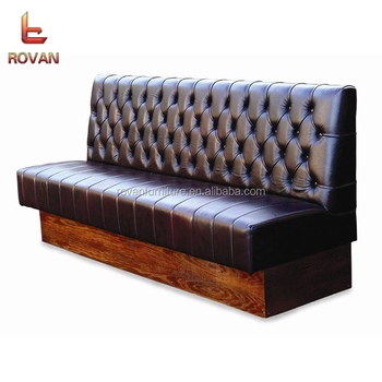 Mexican Restaurant Round Booths Sofa Seating Tufted Leather Booth