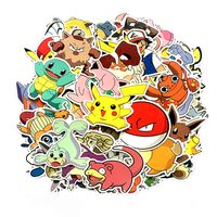 80 pcs/pack Pokemon Style Graffiti Stickers For Moto car & suitcase cool laptop stickers Skateboard sticker