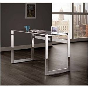 "Glass Top Office Table/Desk with Metal Frame, Luxurious Utility Table, Office Environment Table, Office Decor, Writing Table/Desk, Home and Office, Bundle with Expert Guide ""Quality in Our Life"""