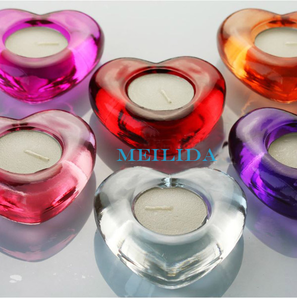 Heart shaped clear wholesale glass votive candle holders