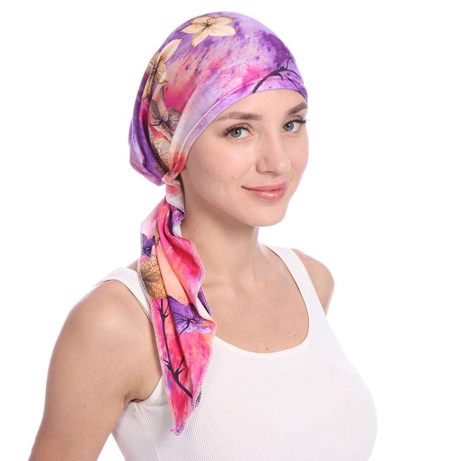 0be1746d80933 Women Head Scarf Cap Elegant Headscarf Cap Chemotherapy Beanie Cap Sleeping  Cap For Cancer Chemo Alopecia