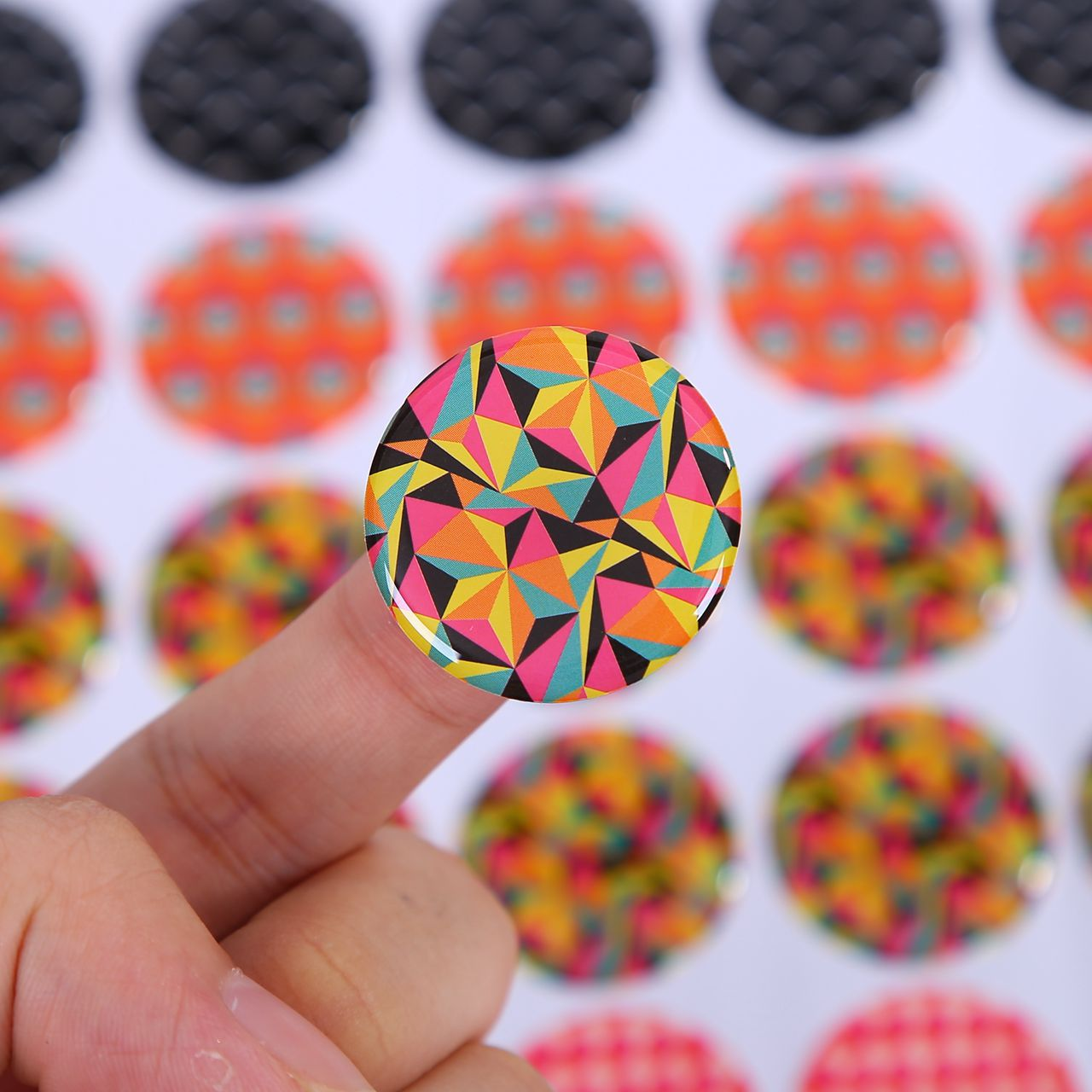 Custom epoxy resin clear crystal dome sticker 3d printing epoxy resin label