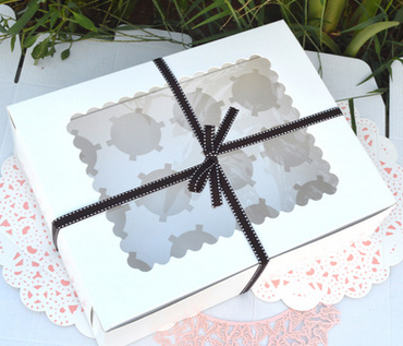 bakery package white cupcake box 12 pieces cupcake boxes muffin cake box dessert gift packing