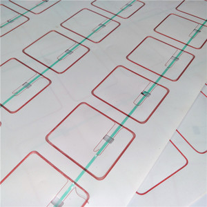 Layout 3X8 Laminated PVC RFID card inlay for producing cards and tickets