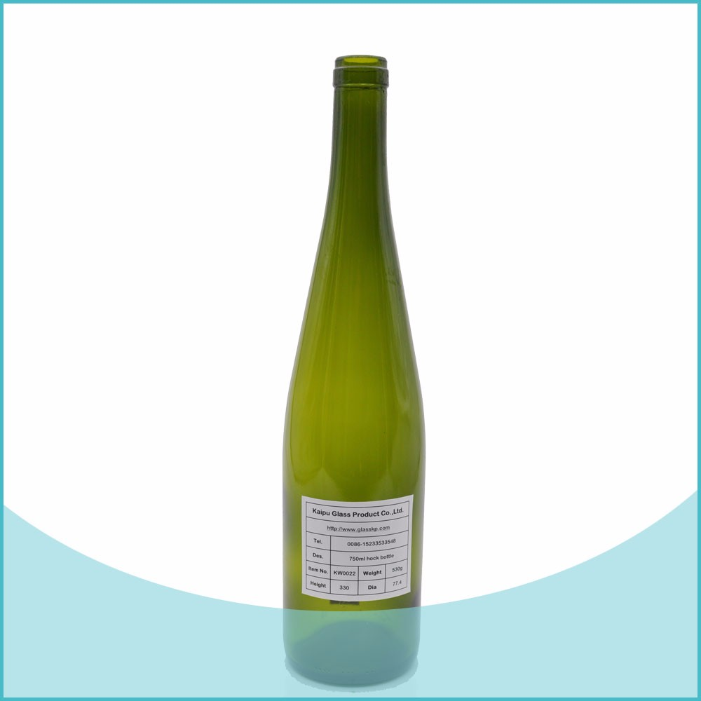 Burgundy dark green color 750ml red wine glass bottles for Glass bottles for wine