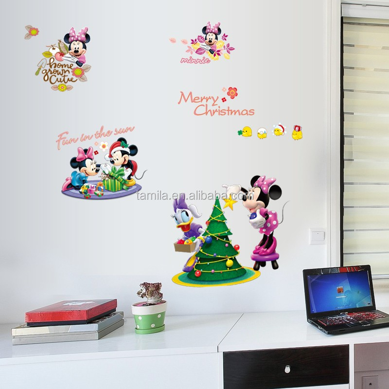 Mickey Mouse Muursticker.Cartoon Kinderkamer Decor Mickey Mouse Muurstickers Baby Decoratieve