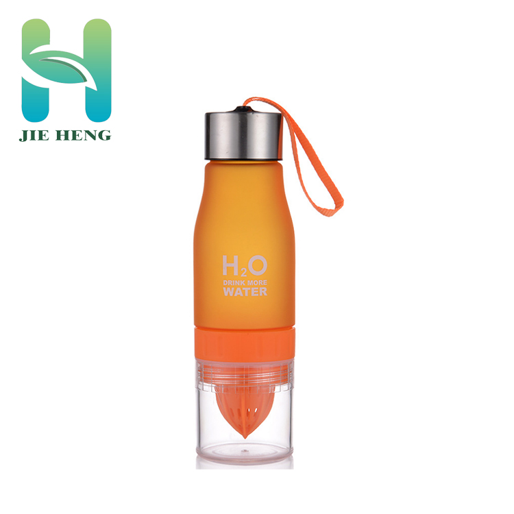 Fruit infuser h2o citroen waterfles met touw