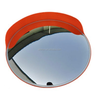 Used widely pc acrylic road safety convex mirror large concave mirror with bracket