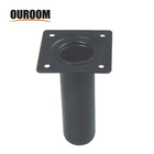Ouroom/OEM Wholesale Products Customizable Good Quality High Metal Furniture Wood Table metal furniture chair Leg risers