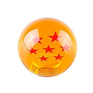 Kingru Dragon ball Z Star 54mm Diameter Manual Stick Shift Knob With Adapters -7 Stars