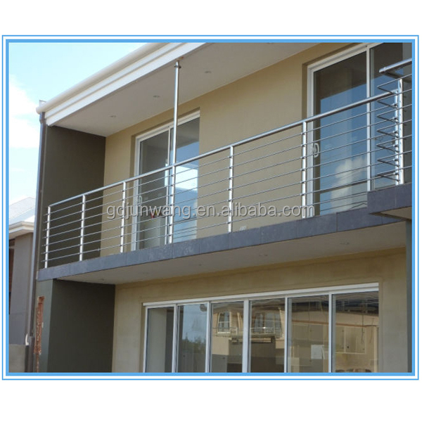 Free sample balcony stainless steel railing design for for Terrace railing design