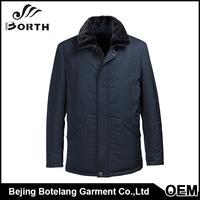 Men apparel wholesale coat mink fur collar removable leather material square collar winter coat men