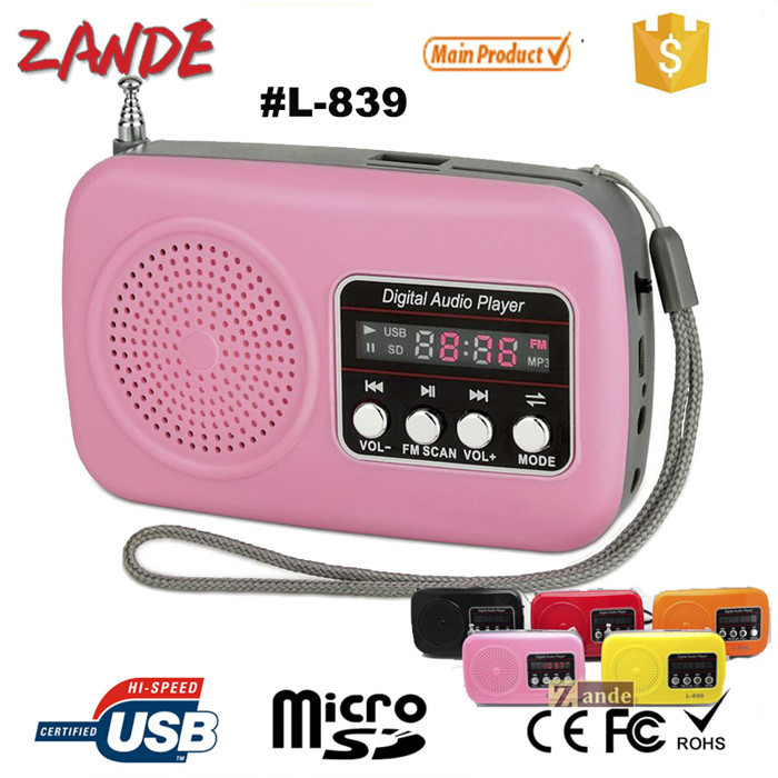 Hot Mp3 Player Portable Rechargeable Fm Radio Mini Speaker Digital ...