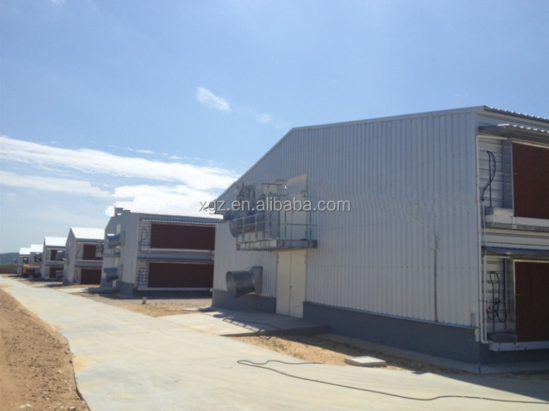 high quality Steel Structure building layer poultry chicken farm house