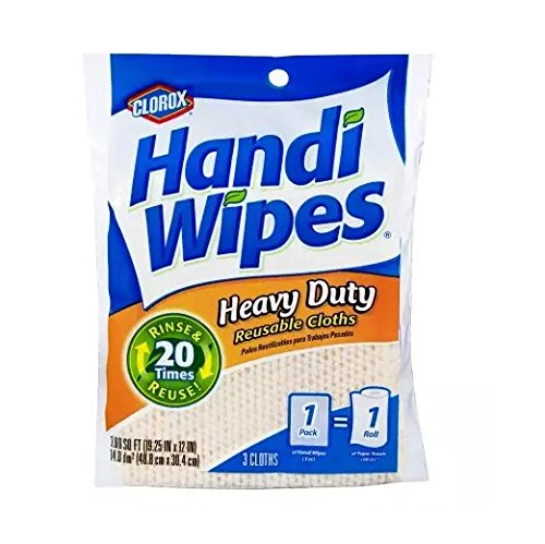 Clorox Handi Wipes Heavy Duty Reusable Cloths 3 Count Pack of 4 Colors May Vary