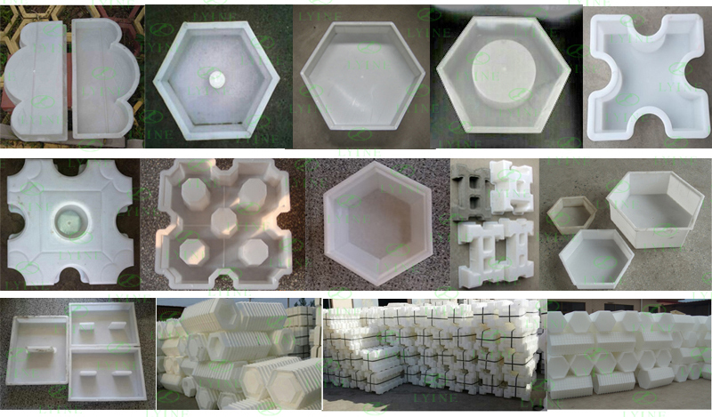 Plastic Slab Stone Mold / Casting Cement Form Mould / Pathmate ...