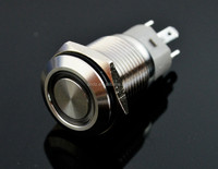 QN16-F1 16mm led circle latching push button switch DC 12V Angel Eye car