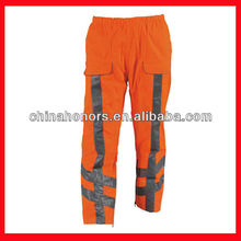 adult windproof waterproof breathable pants with reflective tape