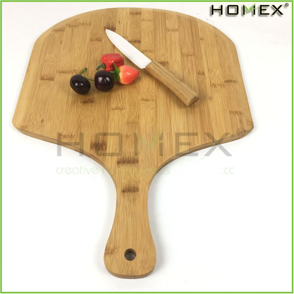 Eco-Friendly Bamboo Pizza Peel with Paddle Handle/Pizza Cutting Board/Homex_FSC/BSCI Factory
