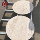 High Quality Factory Supply Round White Travertine Marble Slab Table Top