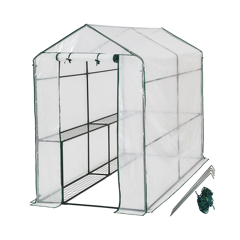Mini Walk In 3 tiers 6 Shelves Greenhouses Portable Plastic Outdoor Green House