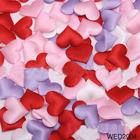 100pcs Fabric Heart 3.5x3.5cm Party Baby Shower Table Wedding Confetti Decoration
