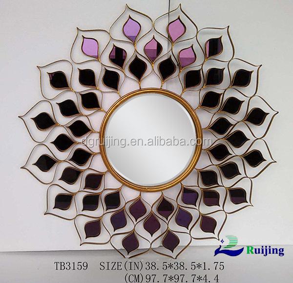 Nouvelle violet verre miroir mur d coratif miroir miroir for Miroir western