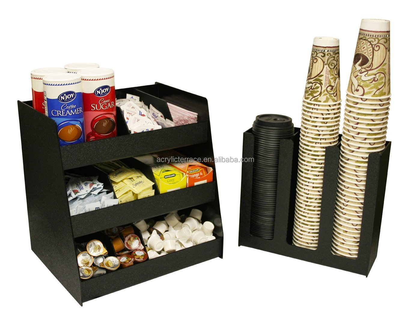 2 piece combo coffee condiment organizer and a 3 column - Accesorios para cafeteria ...