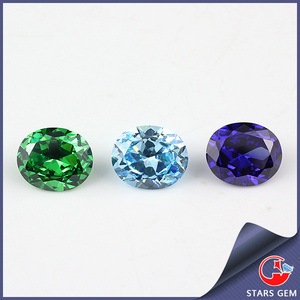 synthetic gems cubic zirconia chinese precious colorful stones